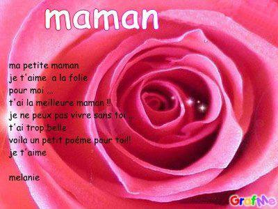 Petit Poéme De Ma Fille Chérie Mélanie Poeme Pour Maman Cherie