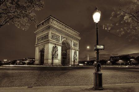 Arc De Triomphe En Noir Et Blanc